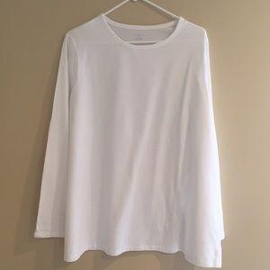 NWOT Land's End White Long Sleeve Shirt